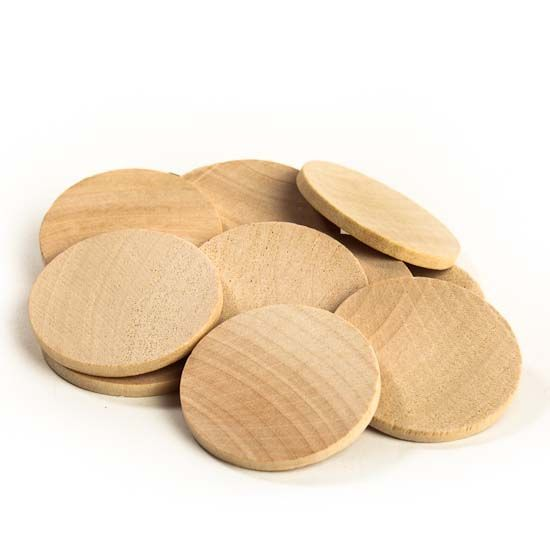 1 1 2 Unfinished Wood Round Disc Cutouts All Wood Cutouts Wood Crafts Craft Supplies Wood Cutouts Wood Circles Wooden Diy