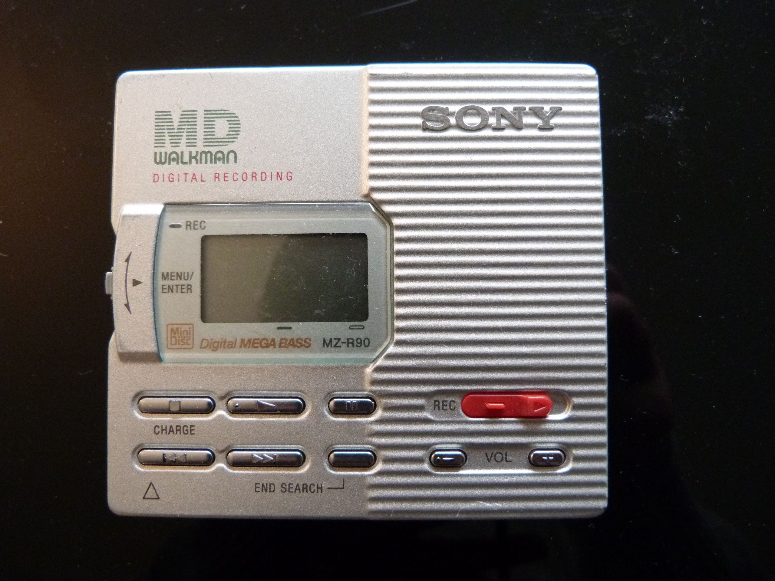 Sony MZ-R90 portable mini-disc player.  To bad the mini-disc never realy took off, because it is realy not bad, even by today's standards.