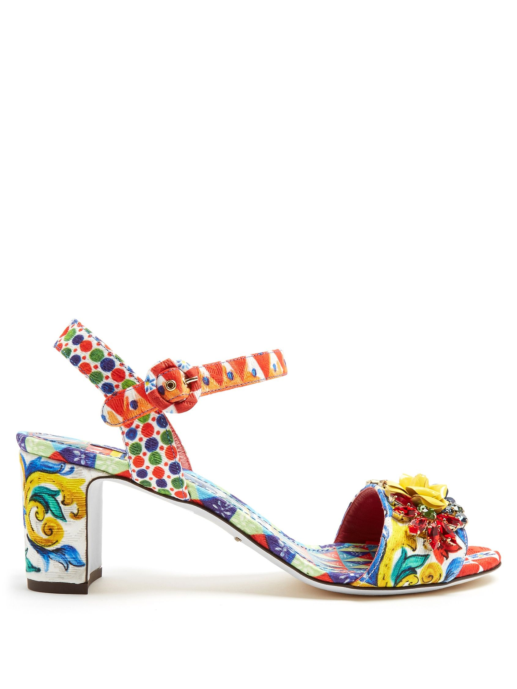 online Shop wiki Dolce & Gabbana Majolica print wedges store cheap price professional for sale 15lXO