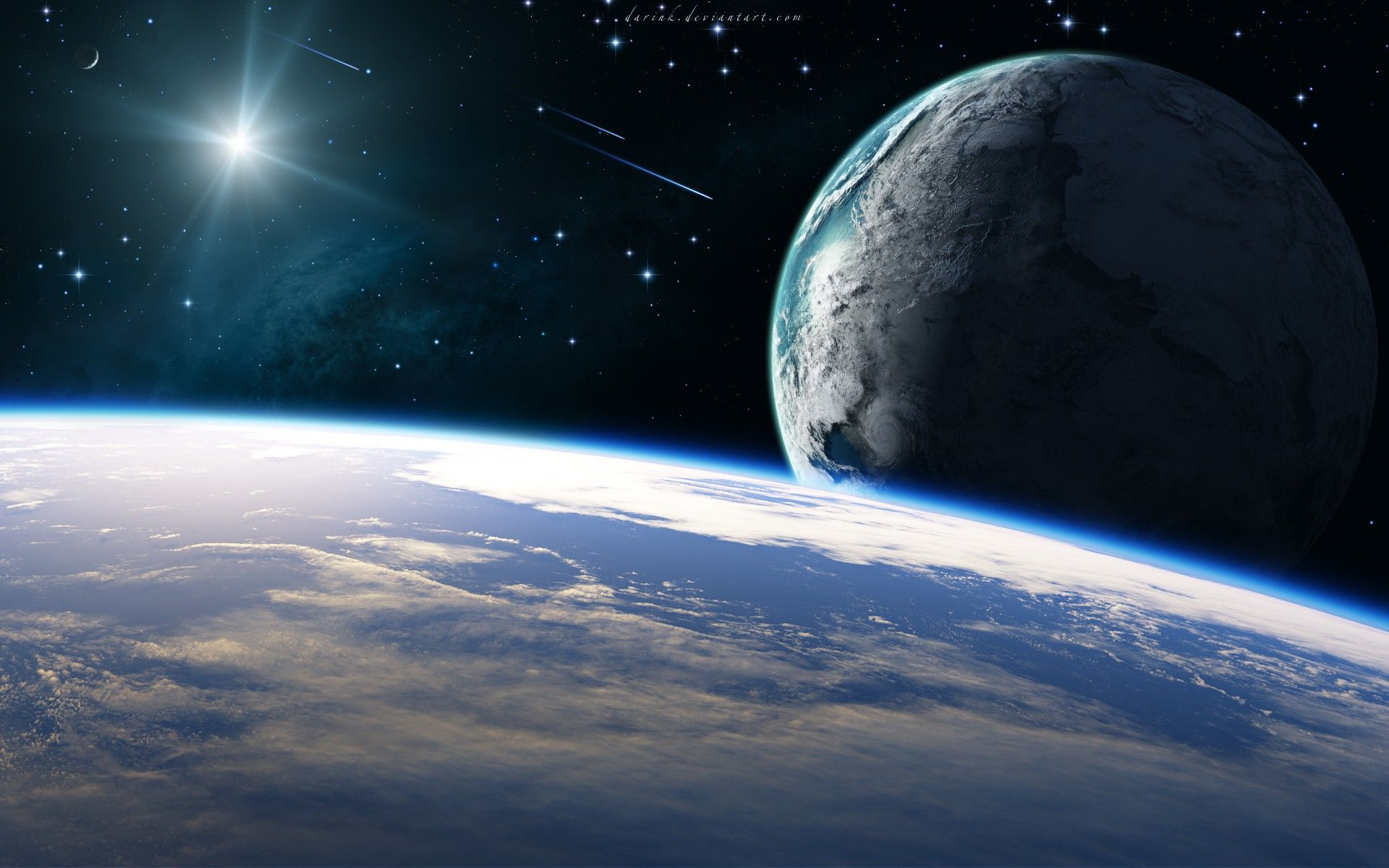 Hd Wallpaper Earth From Space Stars And Planets Planeta Tierra