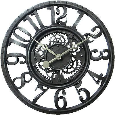New 22 Antique Gear Wall Clock Home Decor Rustic Large