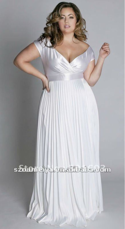 WD716 designer casual chiffon empire waist plus size wedding ...