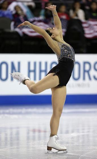 Mirai Nagasu, Ladies free at Skate America 2014, Black Figure Skating / Ice Skating dress inspiration for Sk8 Gr8 Designs