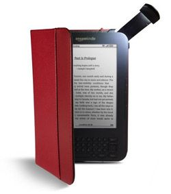 I have this in black... Can read anywhere with this light and it keeps your Kindle safe... Love it