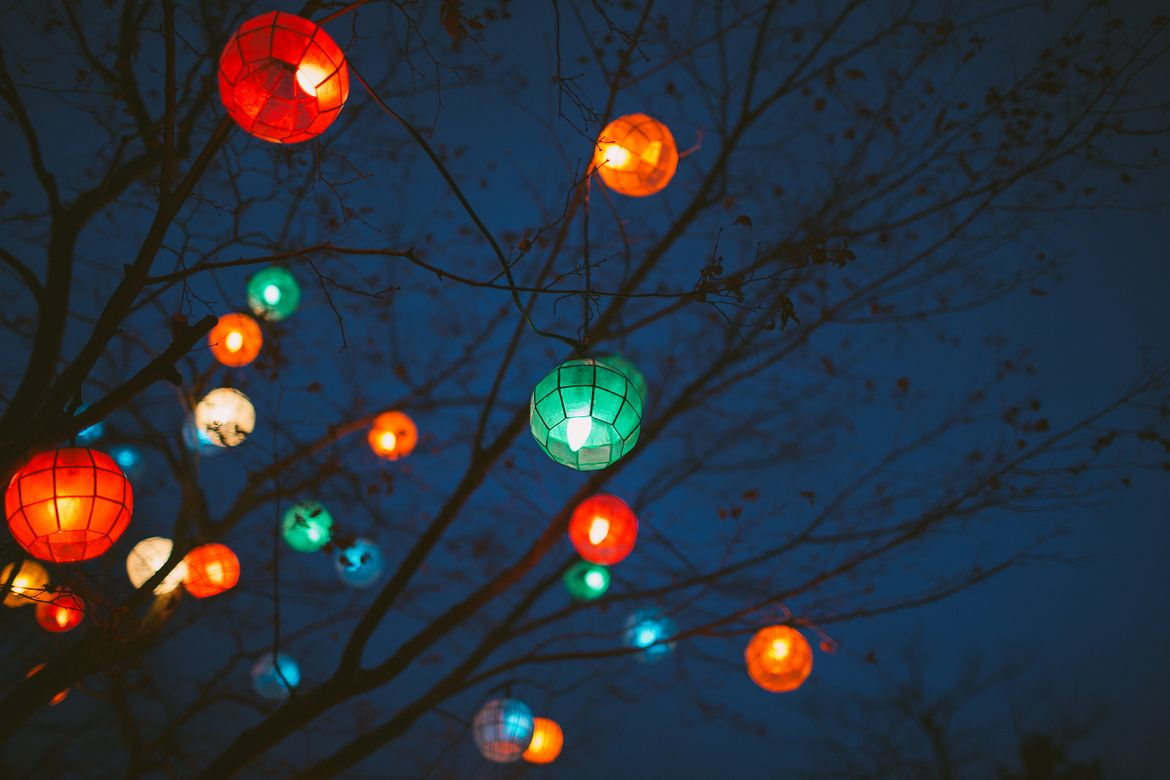 Lanterns In The Night Sky · Patio LanternsChinese ...