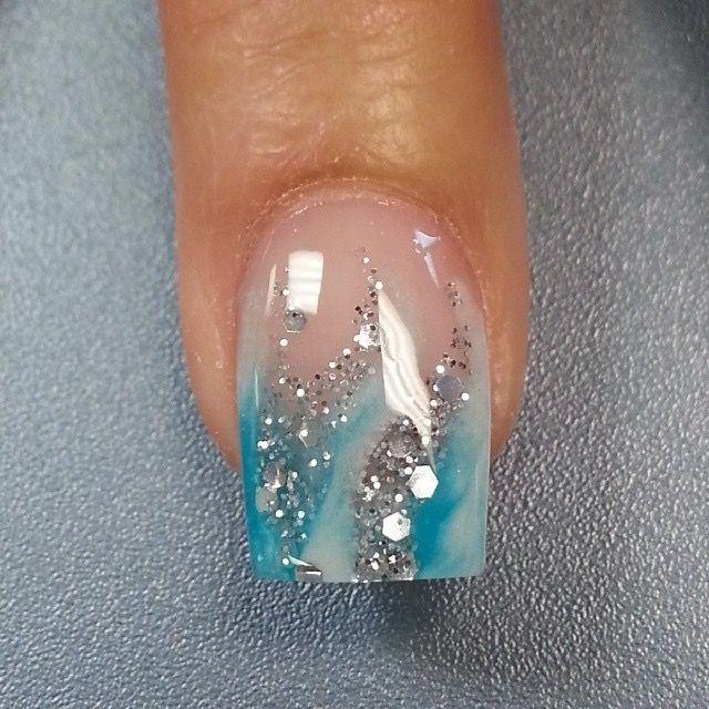 In Purple Or Blue Nail Art Simple Nail Art Designs Nail Designs