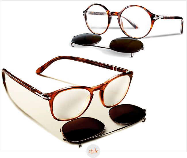 persol clip on collection eyewear glasses oh