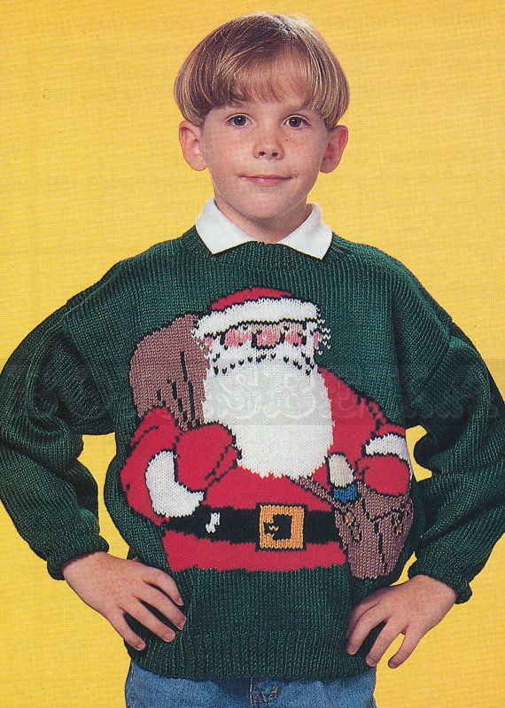 1990s, Adult & Child's Father Christmas jumper ...