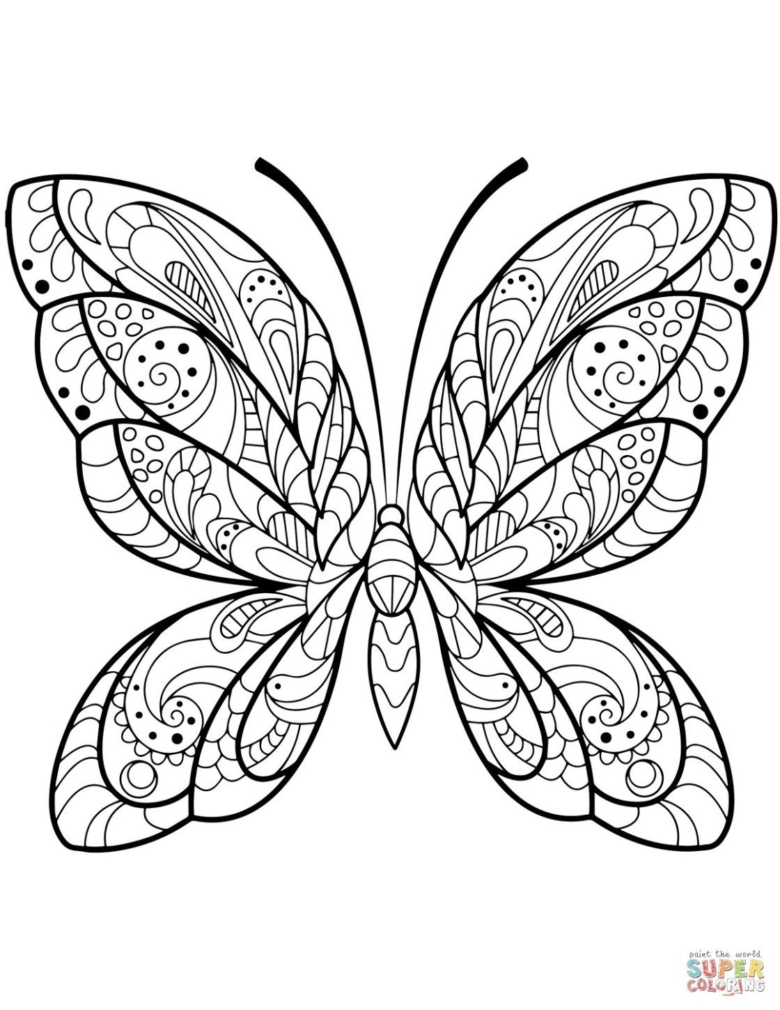 Free Butterfly Coloring Pages Butterfly Coloring Pages Free