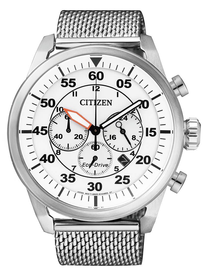 Citizen Sport Chrono 229 Model Nummer Ca4210 59a Eco Drive Techniek 210 Dagen Gangreserve Edelstalen Kast Geschroefde Kas Uhren Herren Herrenuhren Uhr
