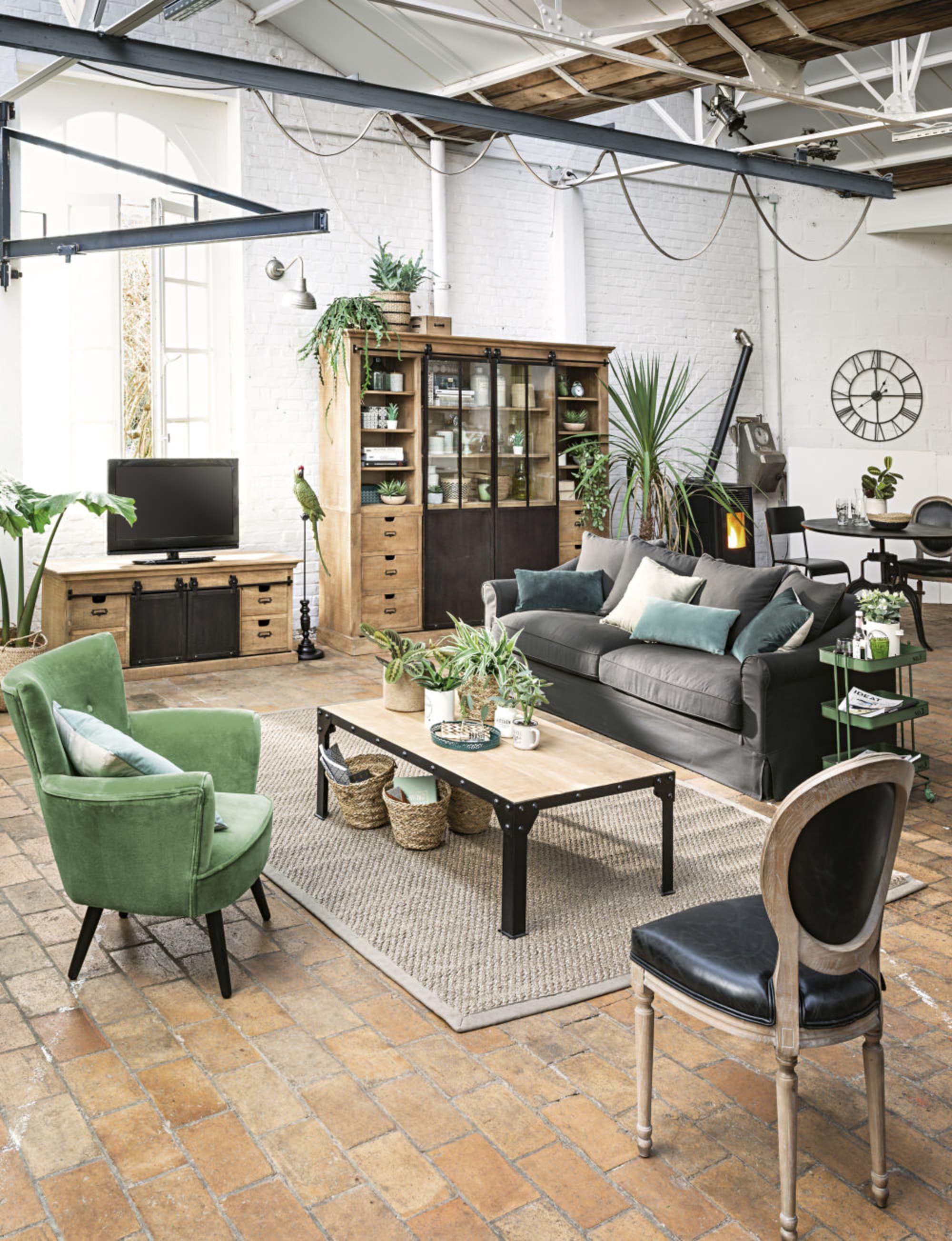 Fauteuil En Velours Vert Sao Paulo Maisons Du Monde Home Home Decor Furniture Decor