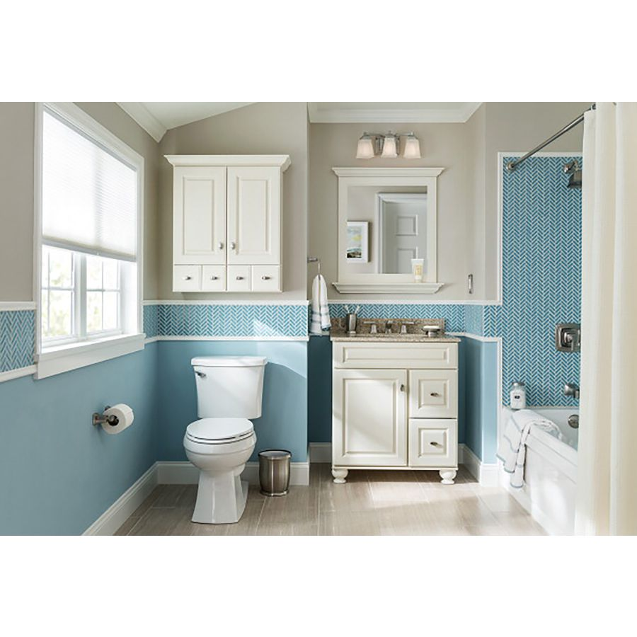 Shop Diamond Britwell Cream Traditional Birch Bathroom Vanity (Common:  36 In X 21