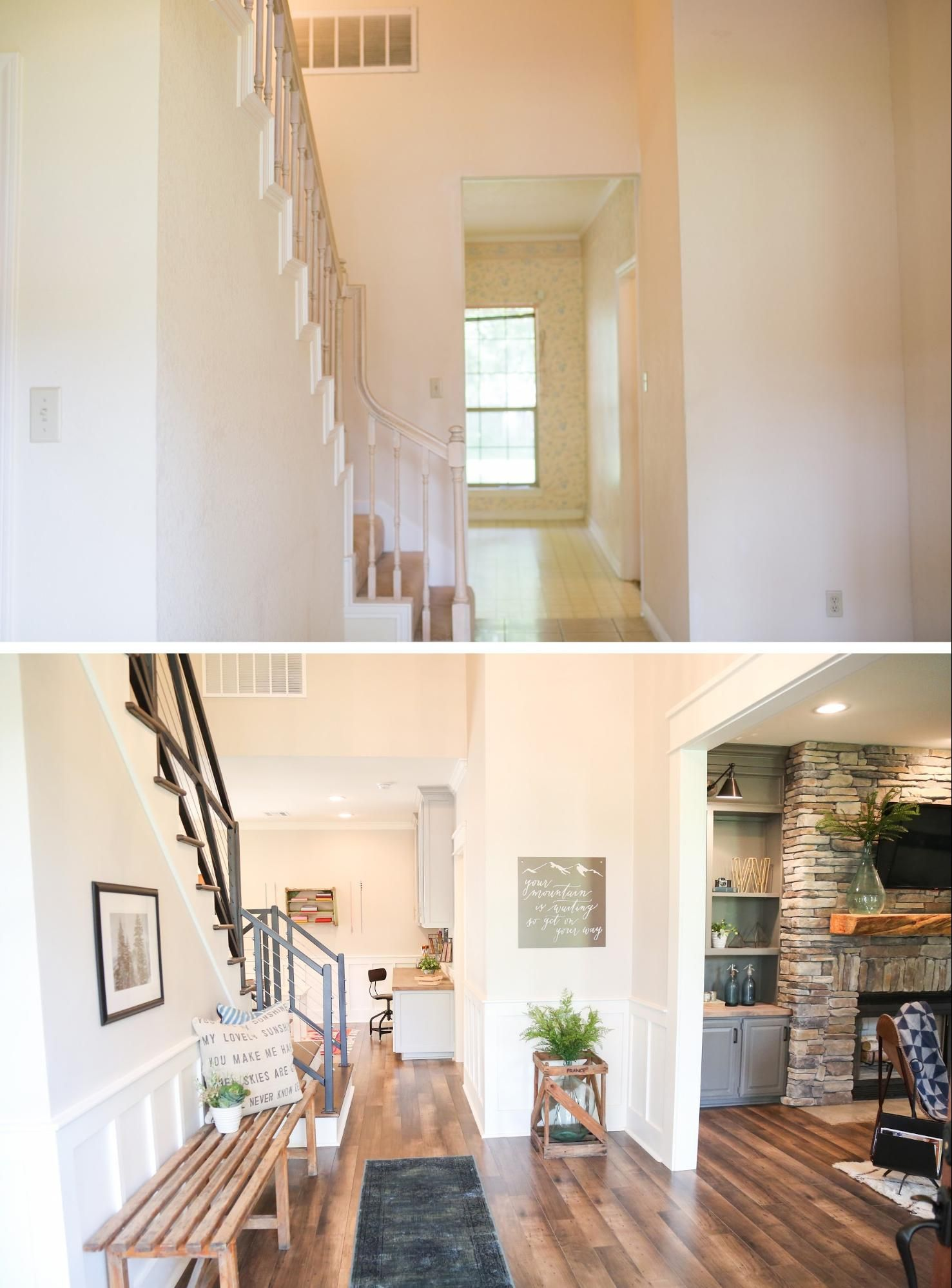 Idea 3 charm with new finishes before amp after family beach homes - Lackluster Fixer Changes To Contemporary Charm For Young Family As Chip Joanna Show Luke