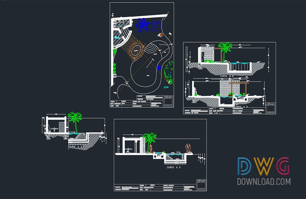 Pool And Jacuzzi Detail Drawing And About Swimming Pool Swimming Pool Dwg Swimming Pool Dwg Drawing Jacuzzi Detailed Drawings Jacuzzi Swimming Pool Designs