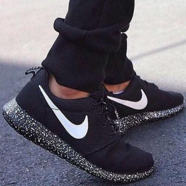 755bcba3870b NIKE Women Men Running Sport Casual Shoes Sneakers Black