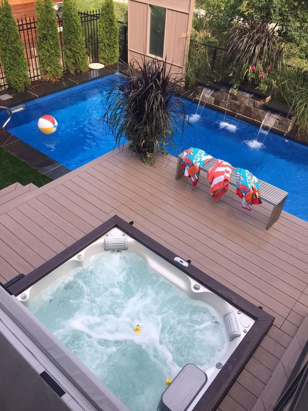 square hot tub with a pool hot tub jacuzzi spa. Black Bedroom Furniture Sets. Home Design Ideas