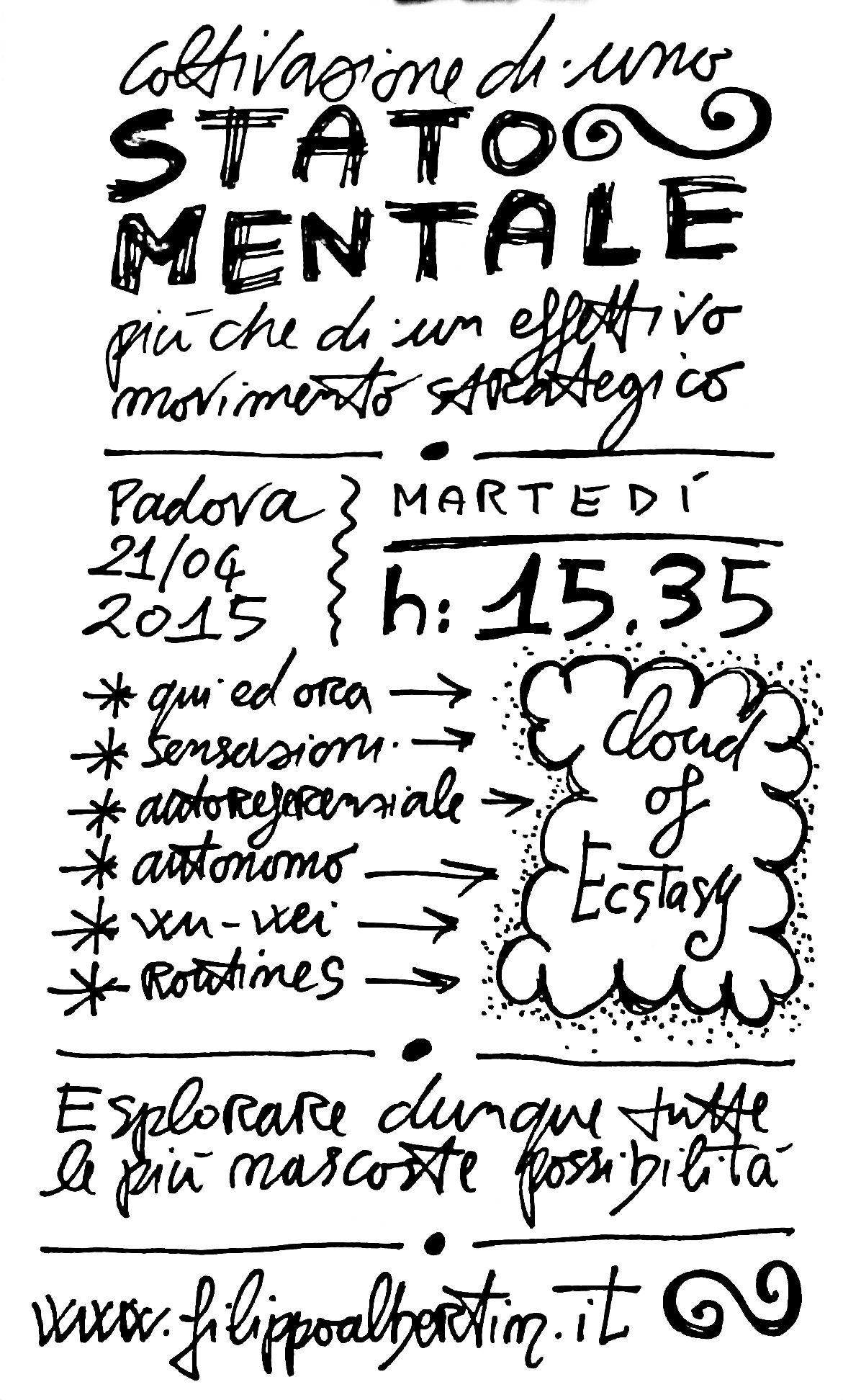 Una sketchnote annotata al parco, direttamente su di un comodo taccuino field notes che porto sempre con me.