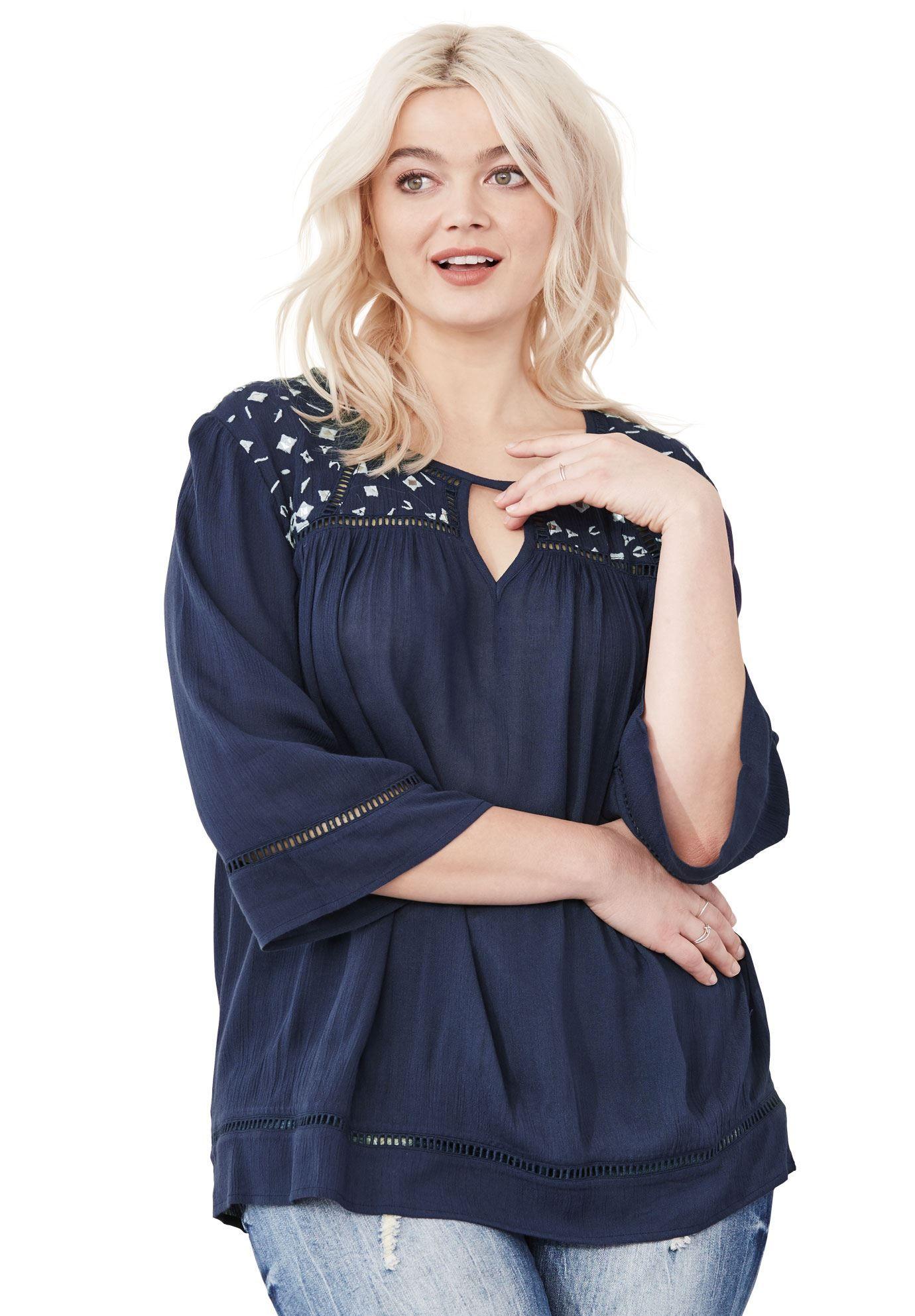 cc4d4ca8c9 Felicity Crinkle Blouse by ellos - Women s Plus Size Clothing ...