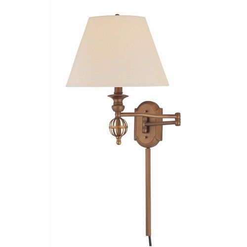 Lite Source 17 Quot Gold Swing Arm Wall Mounted Lamp With Bronze Shade Swing Arm Wall Lamps Guest