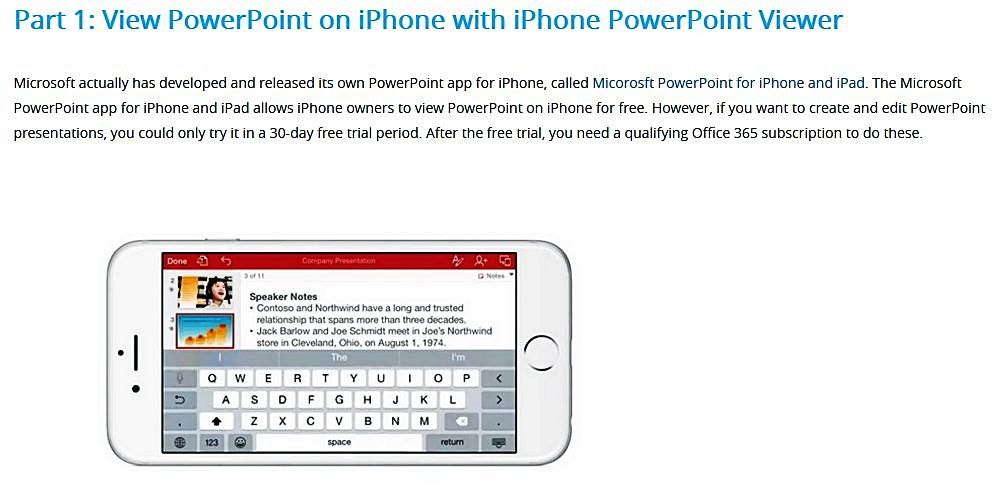 PowerPoint for phones Powerpoint, Iphone, Microsoft
