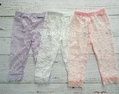 Girls Lace Leggings, Lace Tights, Baby, Toddler Girl Lace Pants, Leggings, Girl Lace Leggings, Lace Jeggings, Girls Ruffle Pants