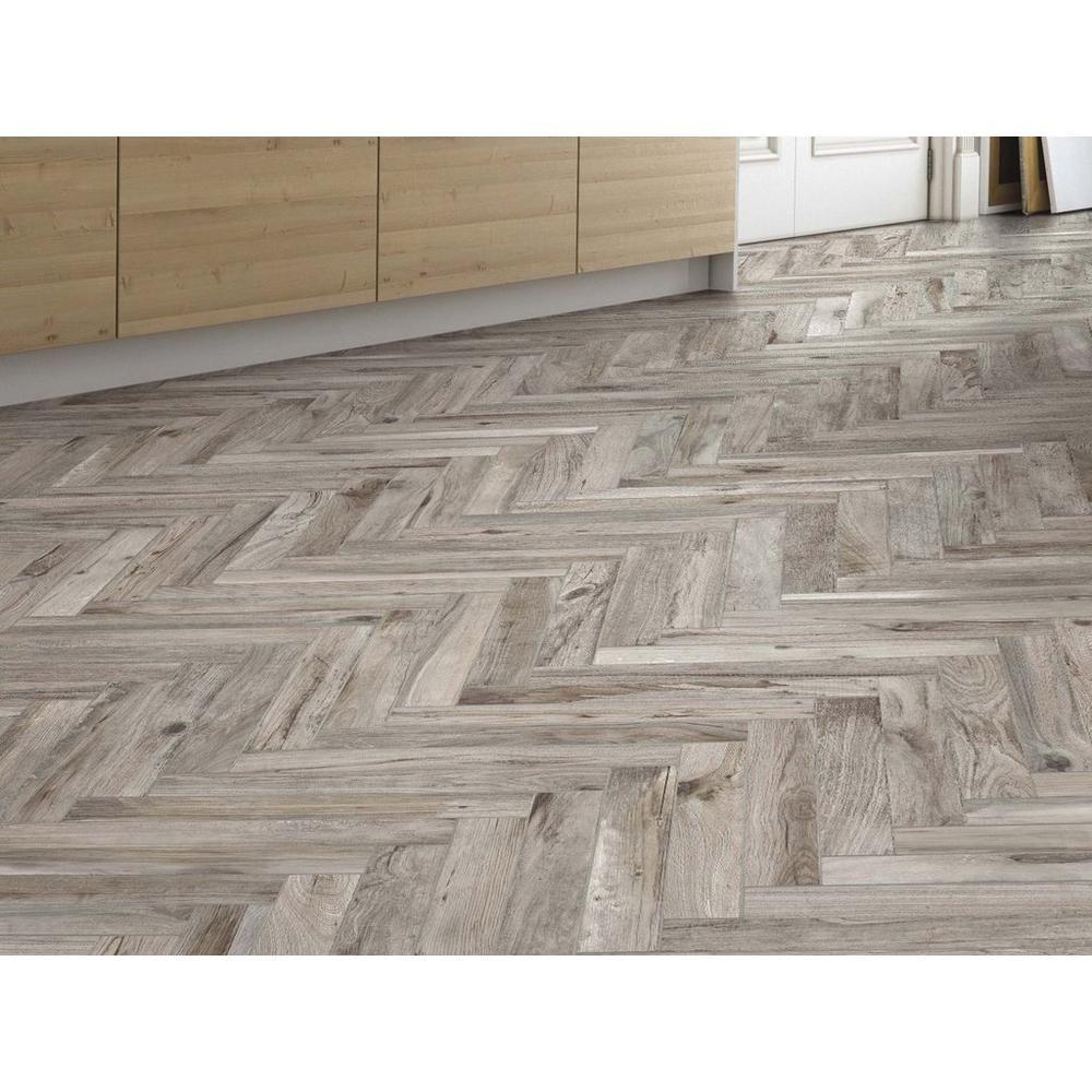 Gunnison Gray Wood Plank Porcelain Tile Wood Look Tile Floor