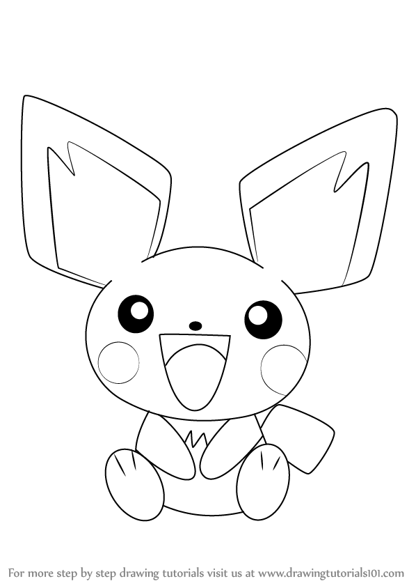 how-to-draw-Pichu-from-Pokemon-step-0.png (598×844) | pichu Pokiman ...