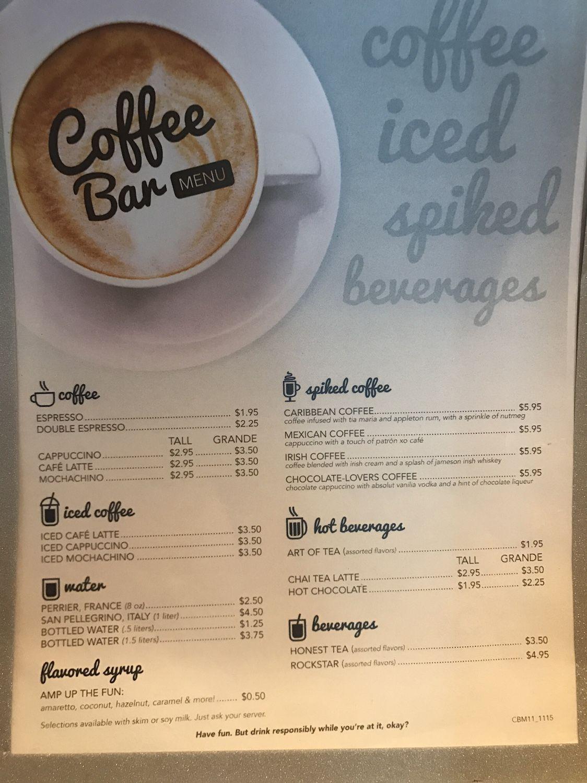 Coffee Bar Menu Coffee Bar Bar Menu Caribbean Coffee