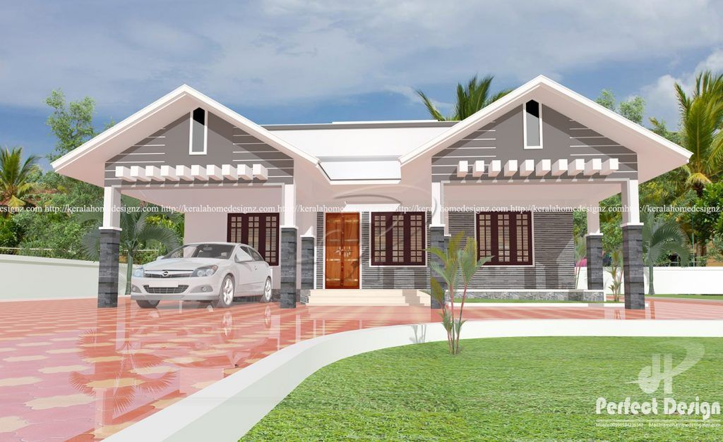 Picture Of Majestic Single Floor Contemporary Residence Kerala House Design Architectural House Plans Modern Bungalow House