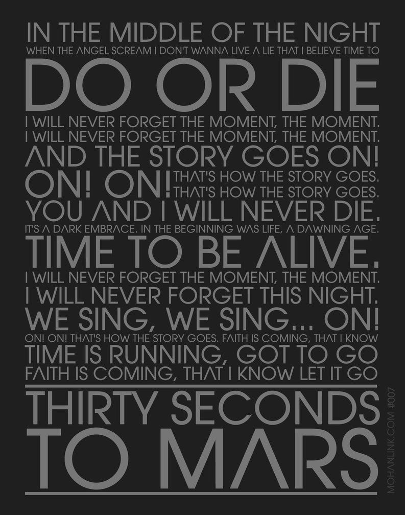 Thirty Seconds to Mars - Hurricane (Official Lyric Video ...