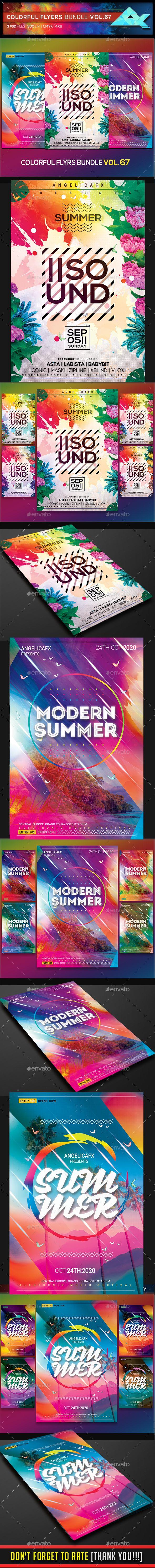 colorful flyers bundle vol 67 flyers colorful bundle vol