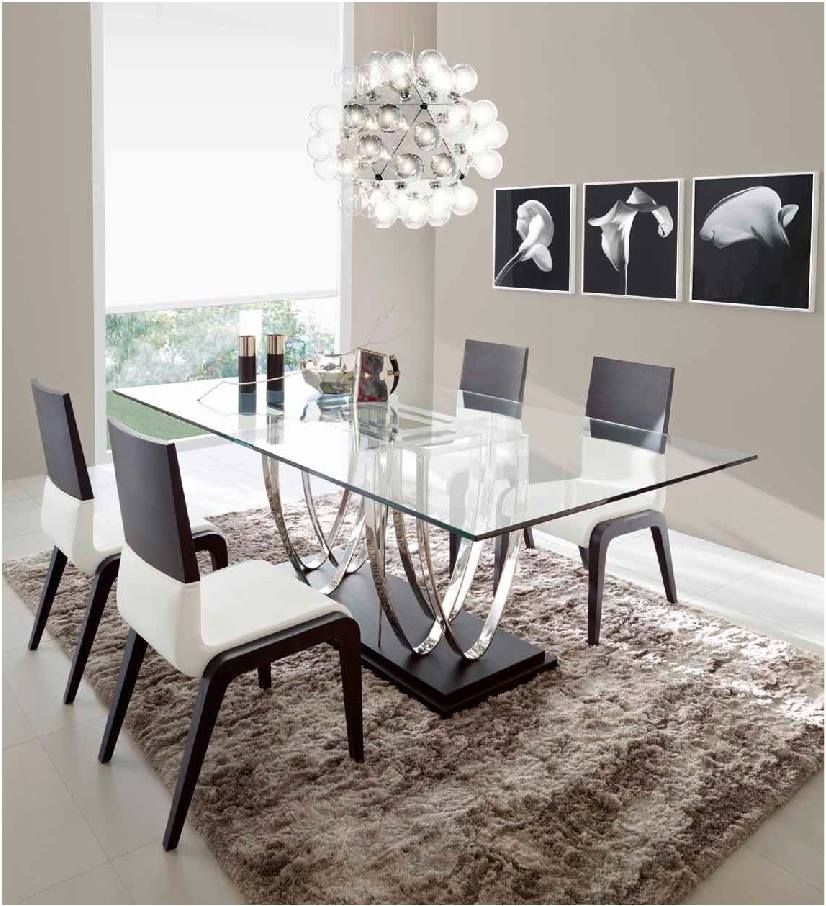 Pin By Elna Ancajima On Organizacion Del Hogar Dining Room Contemporary Glass Dining Room Table Dining Room Centerpiece