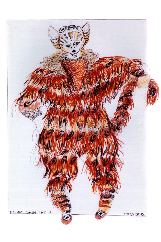 Gumbie Tap original costume design, John Napier 1981