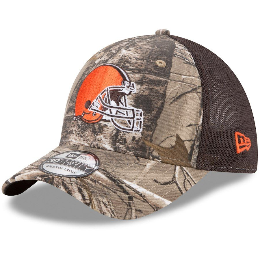 watch 9106a 703c6 Men s Cleveland Browns New Era Realtree Camo Brown Trucker 39THIRTY Flex Hat,  Your Price   25.99