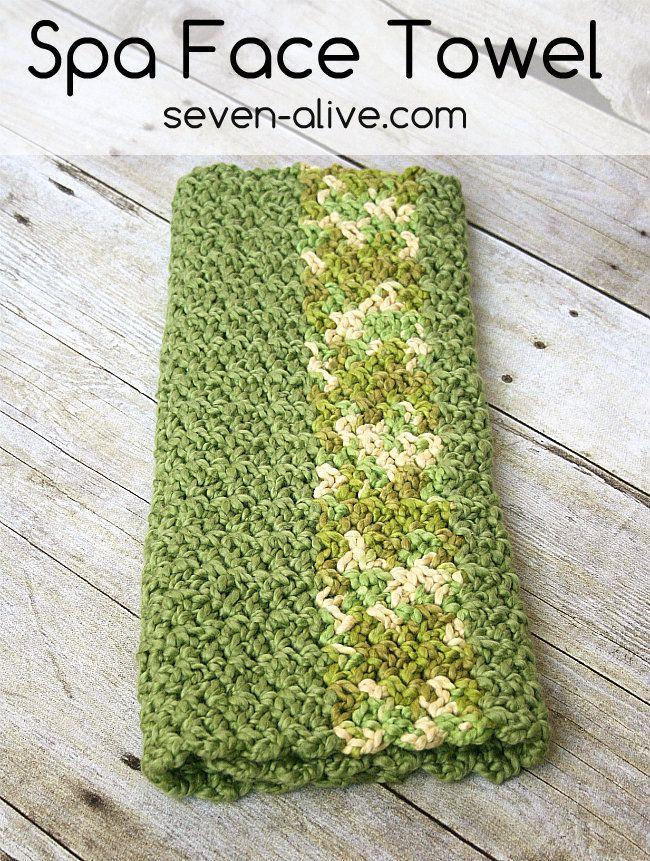 Crocheted Spa Hand Towel Pattern Recipe Crochet Knitting Ideas
