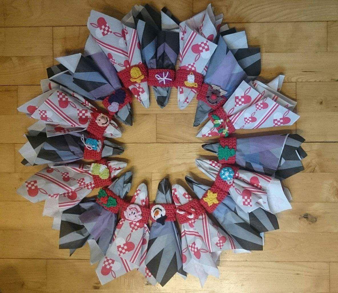 Servietringe | Dansk/nordisk hæklet jul | Pinterest
