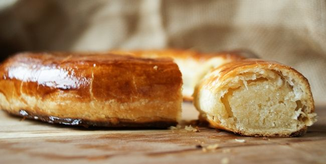 Dutch treat: banketletter (french pastry with almond paste). Use google translate for this delicious recipe, 'cause it's worth a try. :)