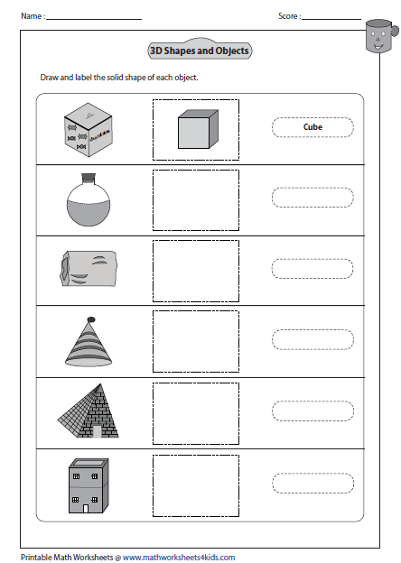 Solid 3d Shapes Worksheets Shapes Worksheets 3d Shapes Worksheets Worksheets