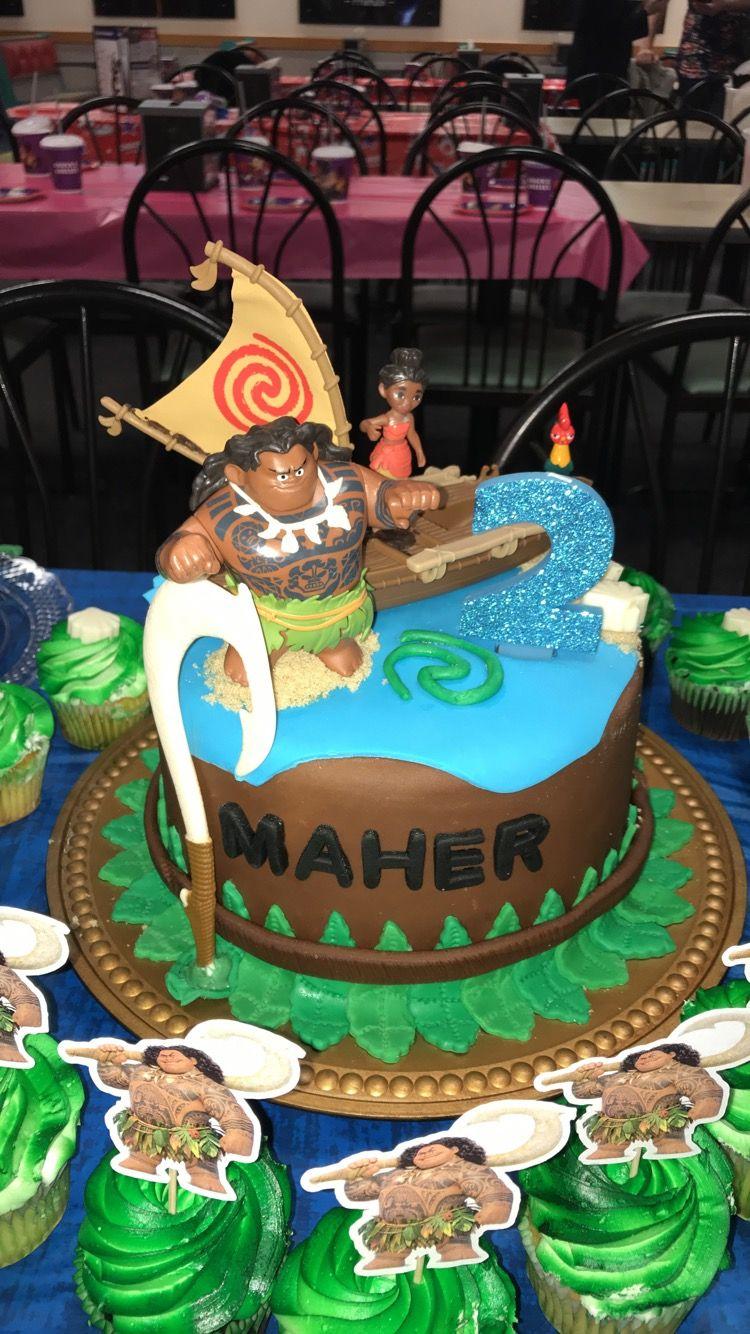 Maui/ moana birthday cake | food in 2019 | Moana birthday, Birthday ...