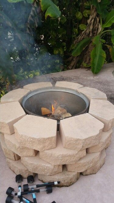 Fire pit with washing machine drum | Fire Pit from washing machine drum | Pinterest | Drums ...