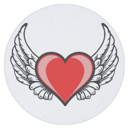 #flying heart of love round paper coaster - #WeddingCoasters #Wedding #Coasters Wedding Coasters