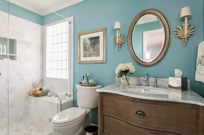 Charmant This Layout Will Work Well In A Skinny Bathroom. House Of Turquoise: Dona  Rosene Interiors