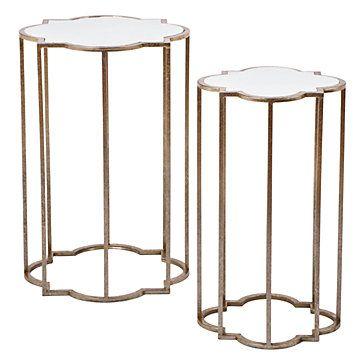 Charmant Quatrefoil Tables   Set Of 2 | Havenly