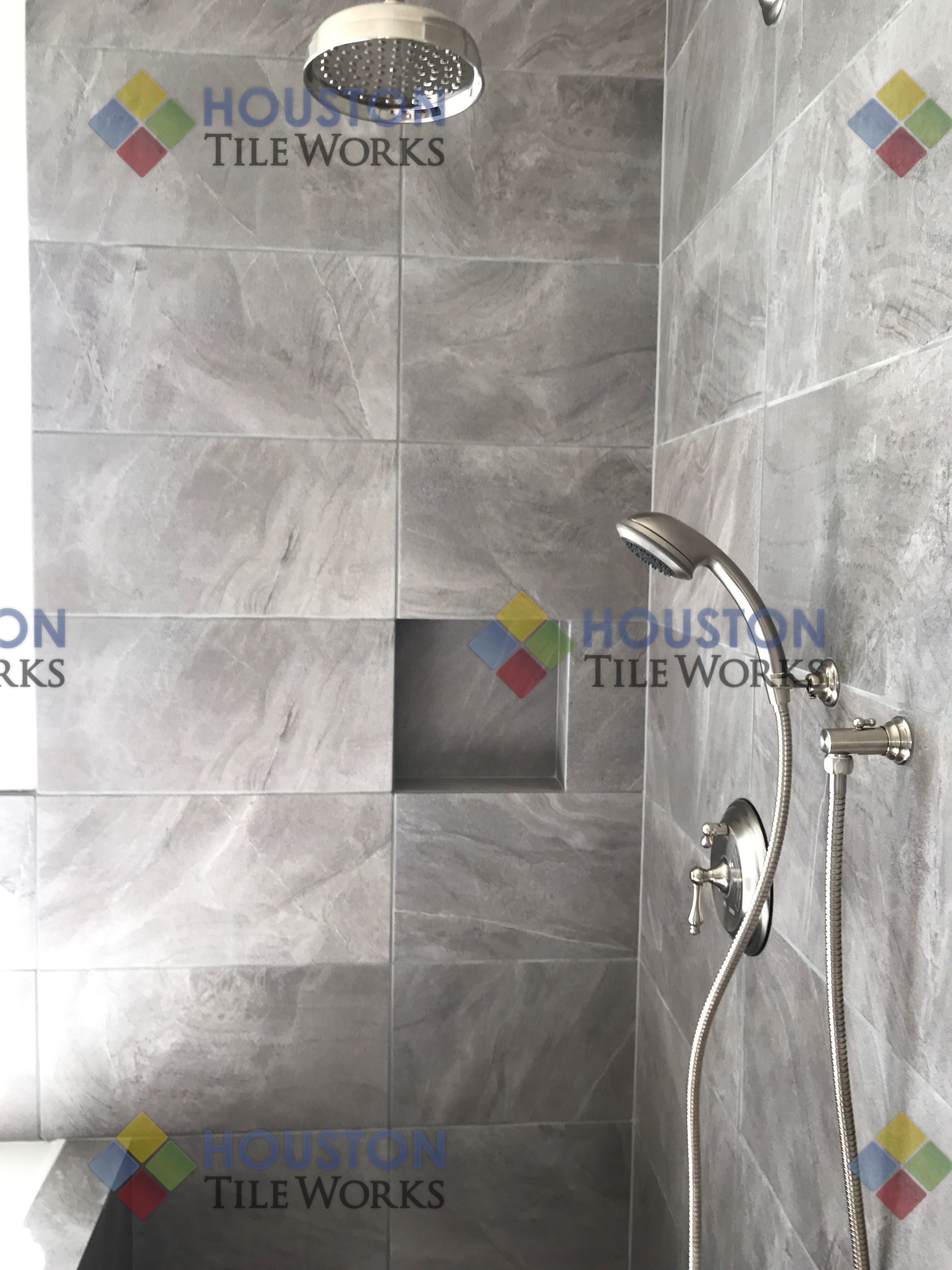 pinhouston tile works on nepal gray porcelain tile | pinterest