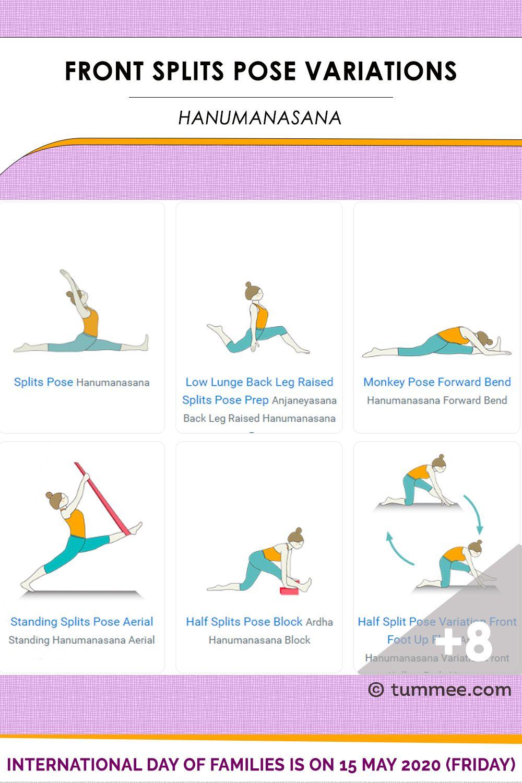Splits Pose Front Splits Pose Variations 15 Variations Of Front Splits Pose Tummee Com Yoga Flow Sequence Poses Monkey Pose