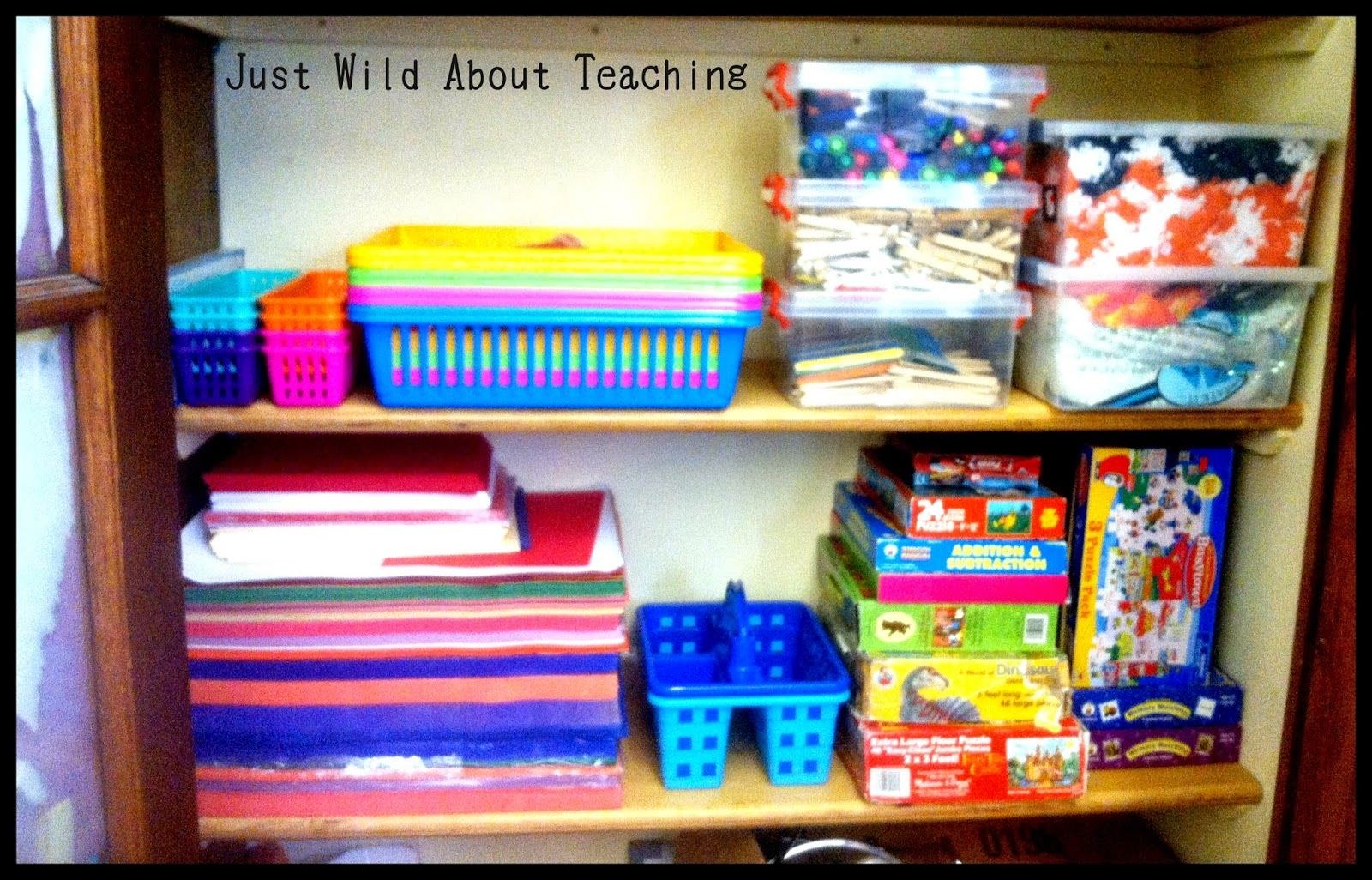 Just Wild About Teaching: Organizing with Stackables!