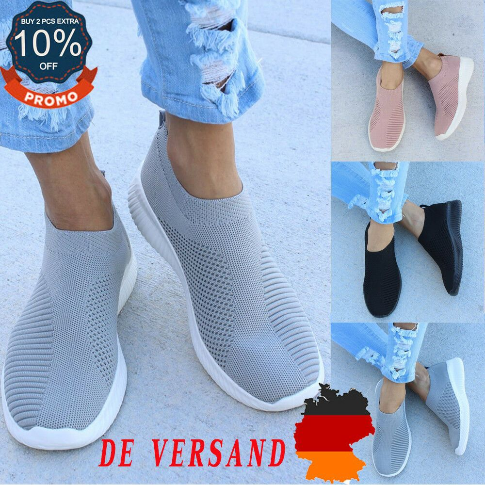 Damen Socken Schuhe Sneaker Sportschuh Turnschuhe Laufschuhe Flach Pump Freizeit