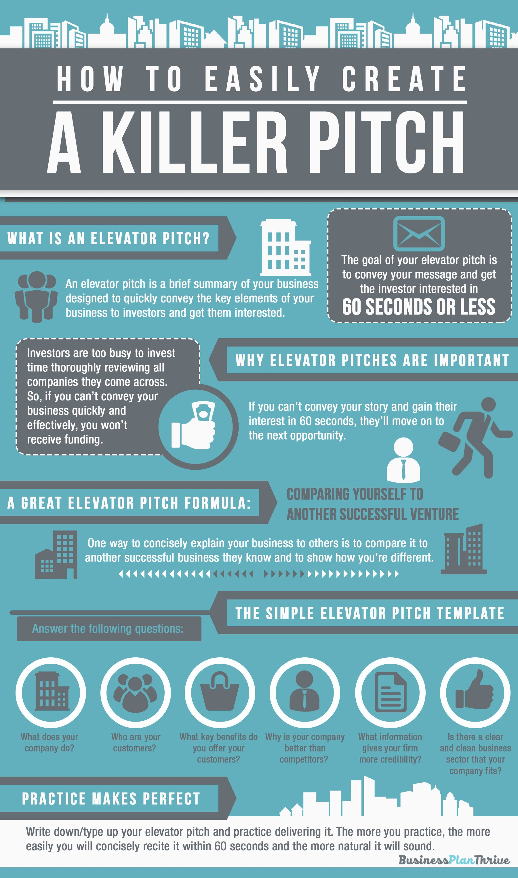 Elevator Pitch Template Infographic Business Pitch
