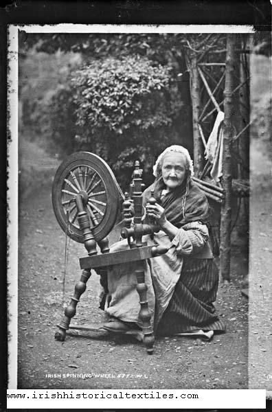 """In 1838, the Poor Law Commission Report contained this comment: """"[Women] occasionally assist during the spring and harvest, there being no employment for them since the destruction of the linen trade. I have minutely inquired as to what a woman could earn at spinning linen or woollen, and find that the most an attentive spinster could earn would not exceed 4d per day; a female servant will, when so fortunate as to get service, obtain wages, sometimes 5s per quarter, sometimes 6s."""""""