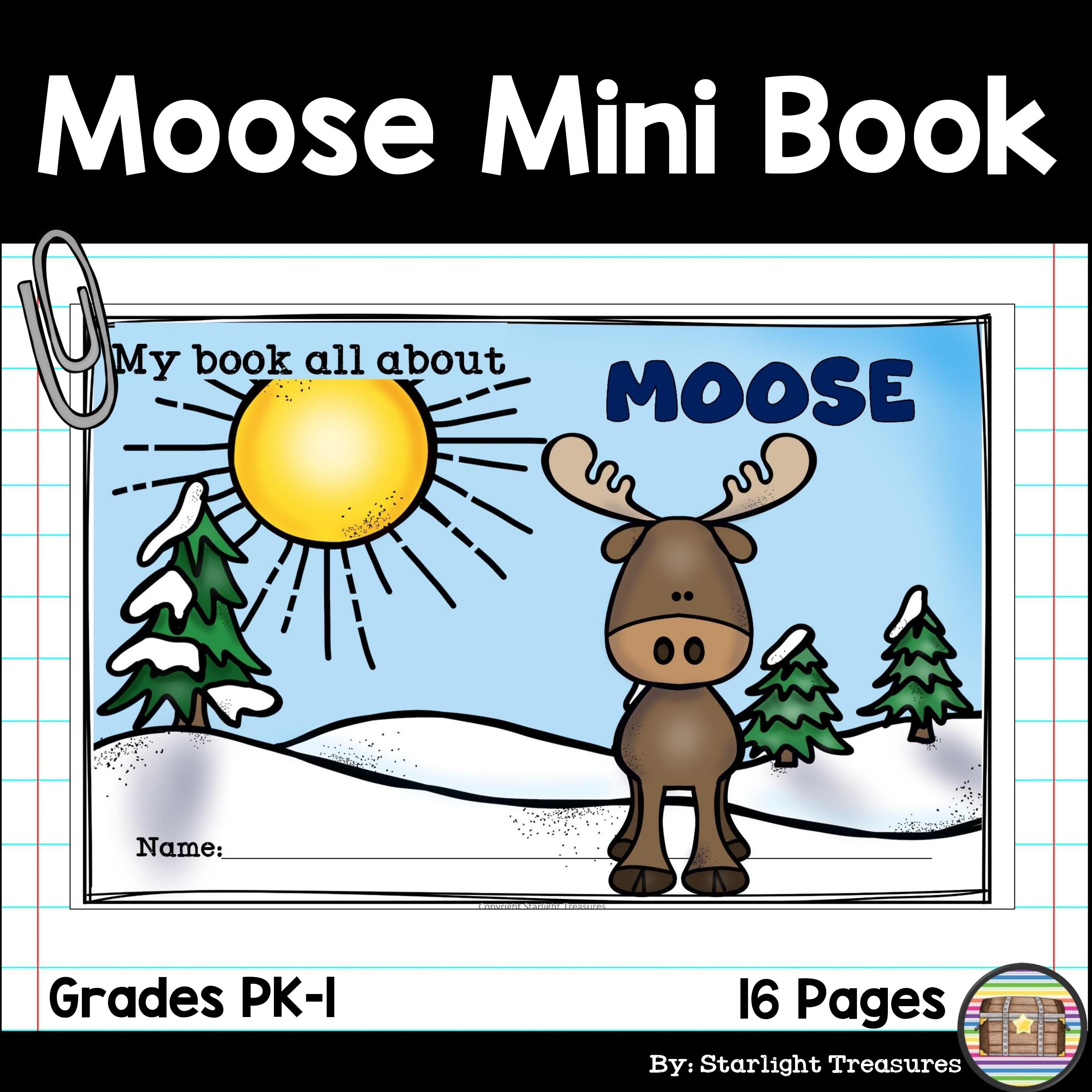 Moose Mini Book For Early Readers